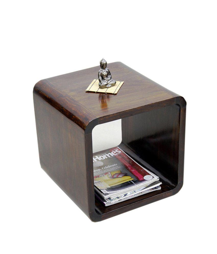 Junglewood Cuba Multipurpose Side Table Single Cube