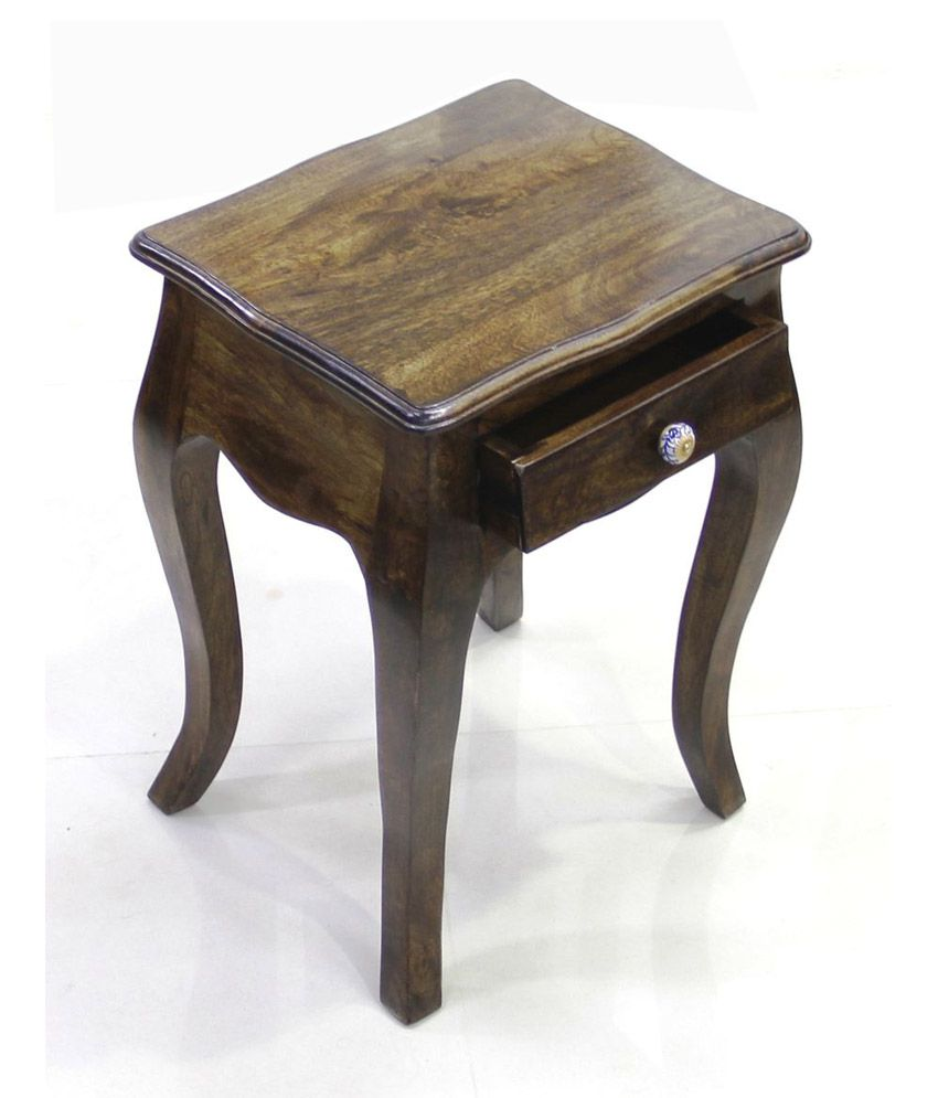 Junglewood Cutee Desginer 1 Draw Side Table Light Walnut
