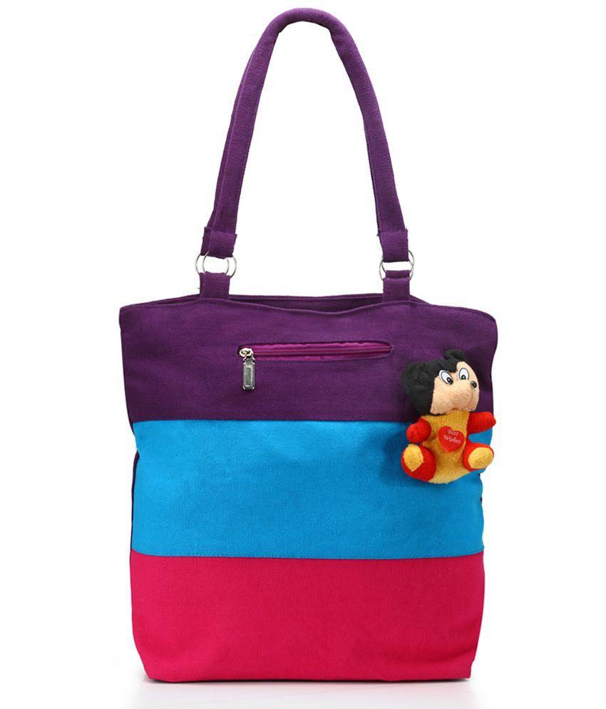 Nell H1056-purple Purple Tote Bags