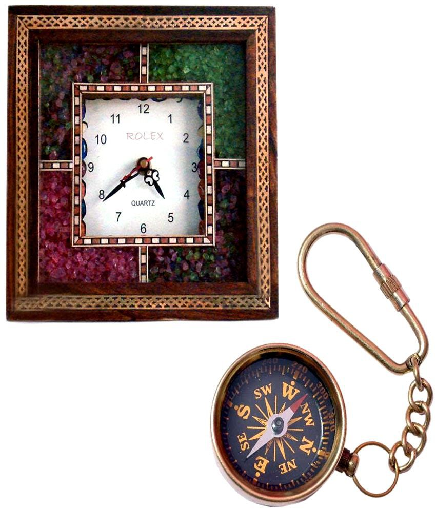 Buy Wooden Wall Clock N Get Compass Keychain Free Buy Buy