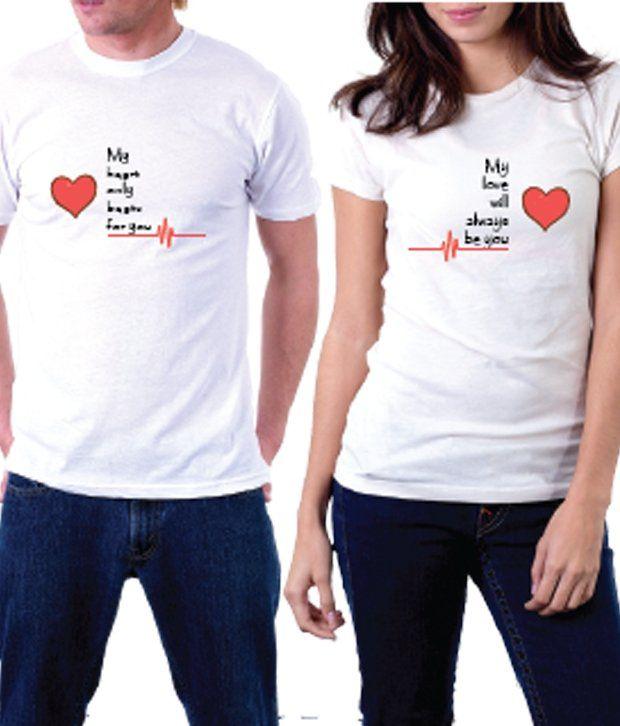 La Heart Beats Couple T-shirt