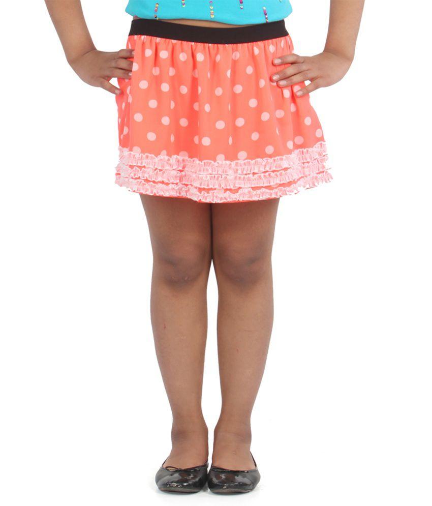 Posh Kids Jur Polka Dot Printedskirt W/legging