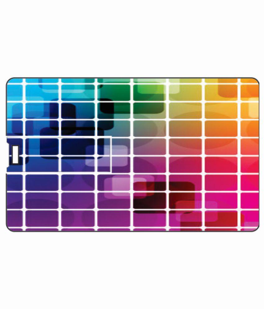 Printland Multi Colored 4GB Card 4 GB Pen DrivesMulticolor