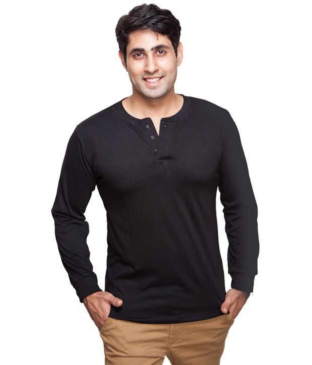 Inkovy black full sleeves t shirt buy inkovy black full for Full black t shirt