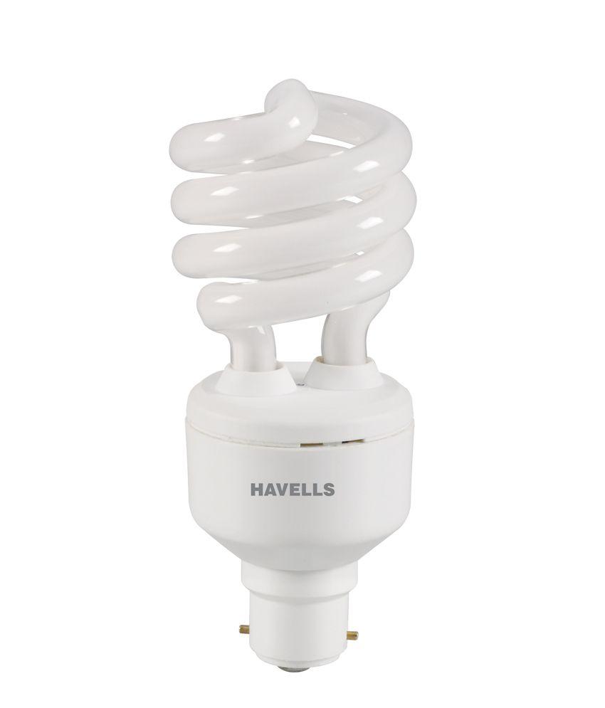 Havells White Glass Cfl Spiral 23 W ( 2 Pcs )