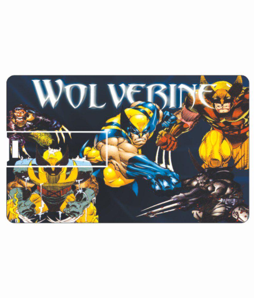 Printland Wolf 4GB Card 4 GB Pen DrivesMulticolor