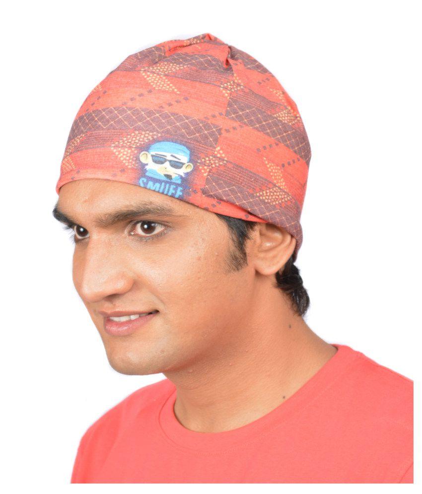 SmuffWear Orange Polyester Headwrap