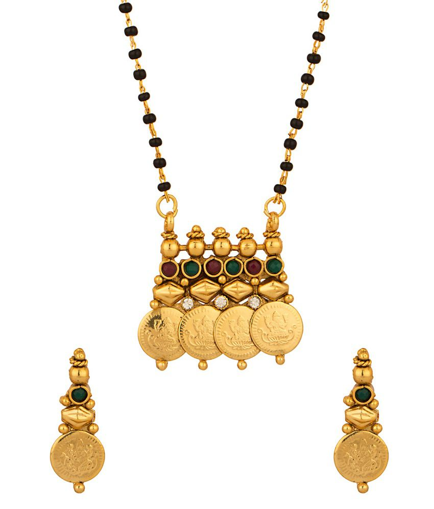 Voylla Exquisite Single Chain Coin Collection Mangalsutra Set