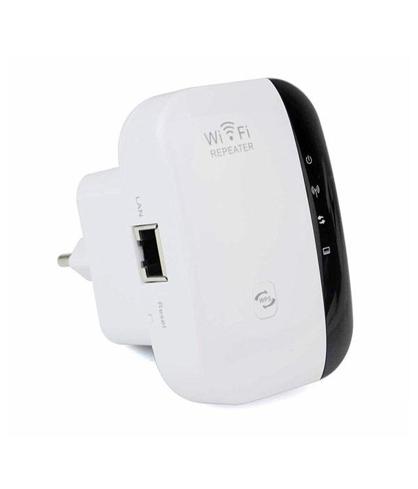 Wayona 300 Mbps Wireless N Signal Booster WiFi Repeater & Range Extender (black & White)