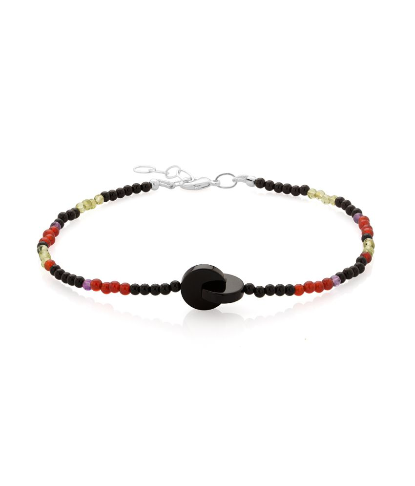 Voylla Single Anklet With Multicolored Beads