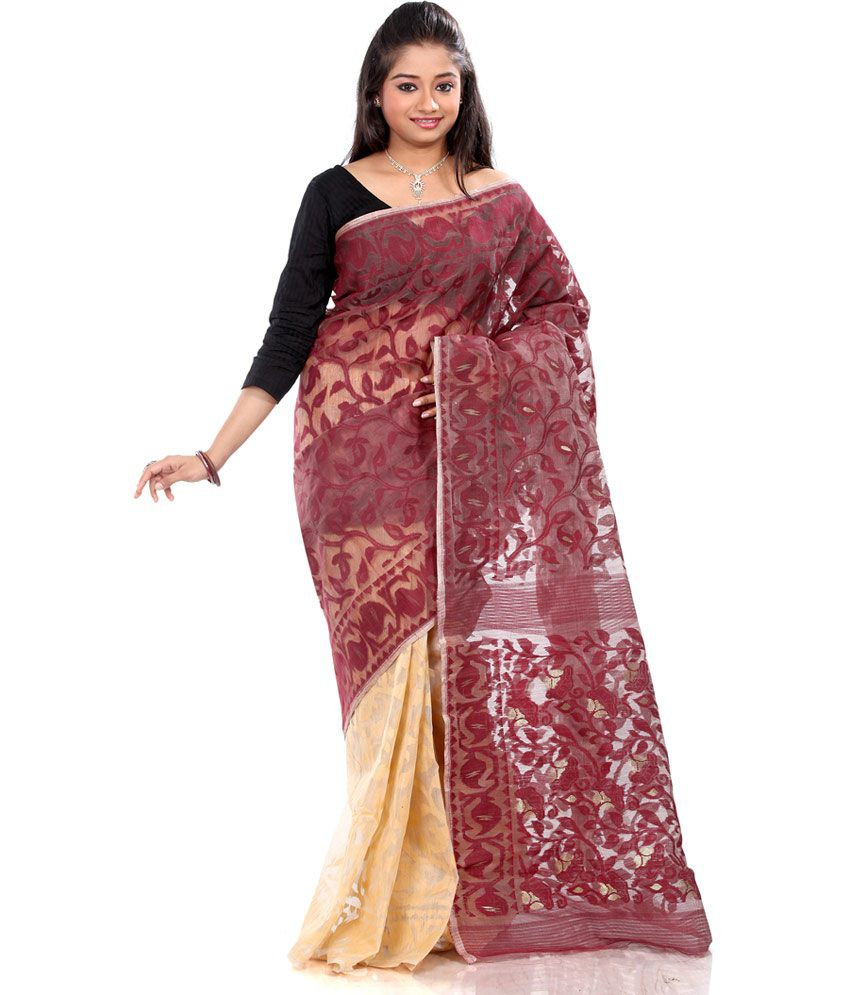 B3Fashions Multi Color Cotton Saree