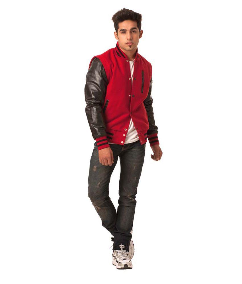 Caliber India Letterman Varsity Red Baseball Jacket - Buy Caliber ...