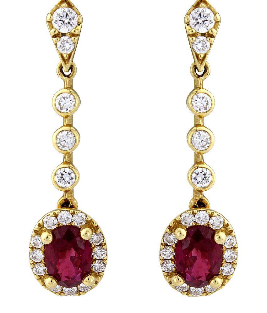 Kiara Swarovski Elements Traditional Gold Plated Earrings