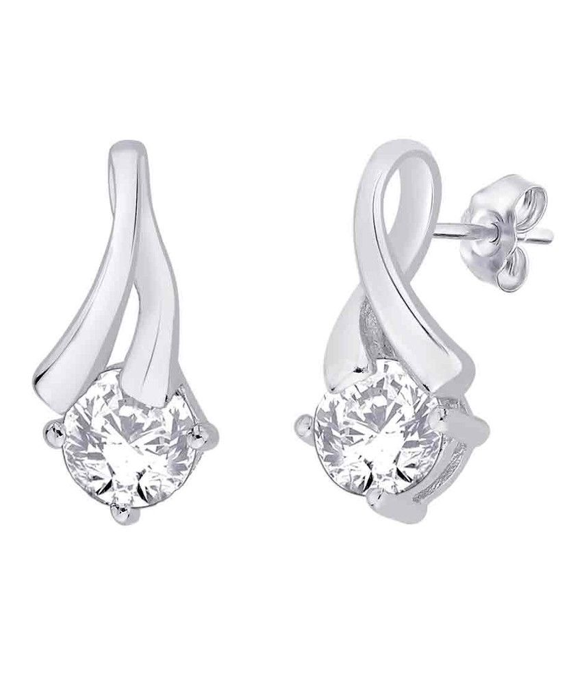 Kiara Swarovski Elements Traditional Sterling Silver Earrings