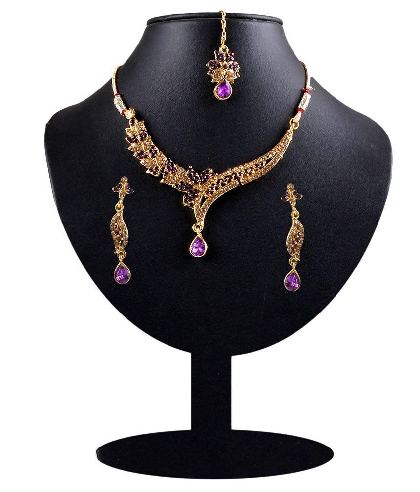 Sp Jewellery Gold Contemporary Designer Necklace
