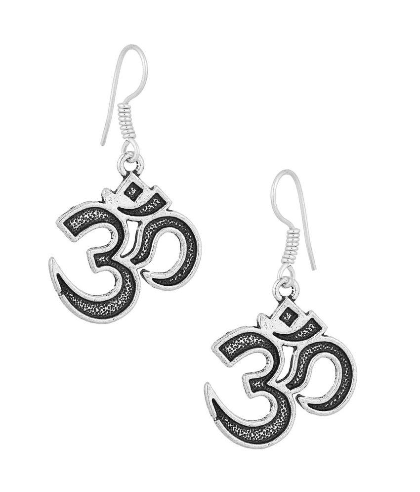Voylla Dainty Pair Of Dangler Earrings With Om Symbol