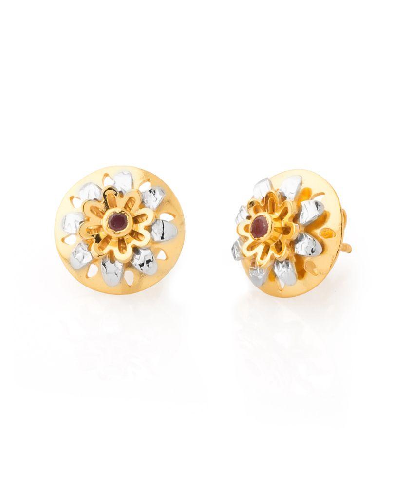 Voylla : Milaan Endearing Pair Of Stud Earrings With Ruby