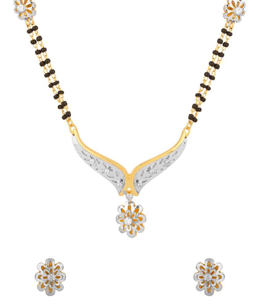 Voylla : Milaan Shimmering Mangalsutra Set Adorned With Shiny Cz Stones