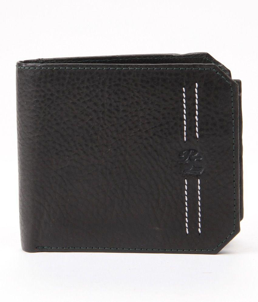 WalletsnBags Leather Black Men Regular Wallet