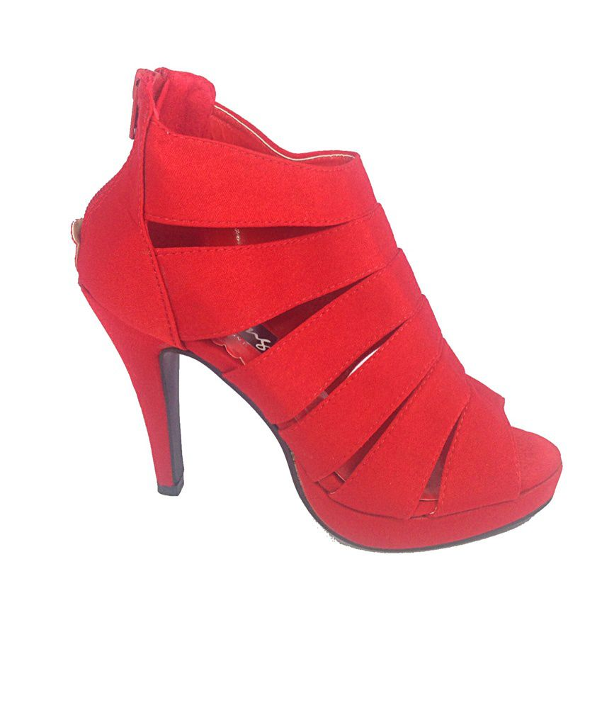 Darling Deals Red High Heels Sandals Price in India- Buy Darling ...