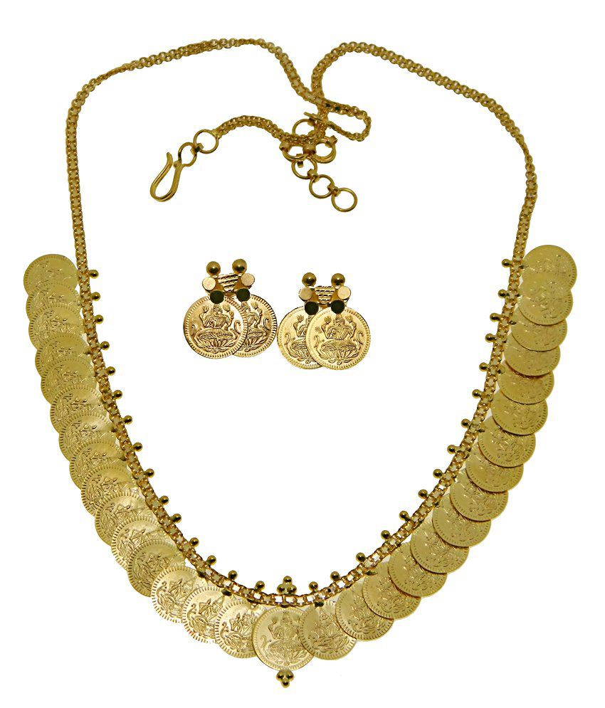 4fde5ab3439be Kothari Jewelry 22kt Gold Lakshmi Coin Necklace Set  Buy Kothari Jewelry  22kt Gold Lakshmi Coin Necklace Set Online in India on Snapdeal