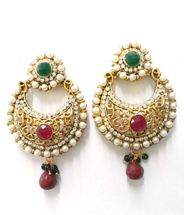 jhumka earrings traditional girls wear jhumki gold jewellery jhum and for youbella fancy earings plated women party