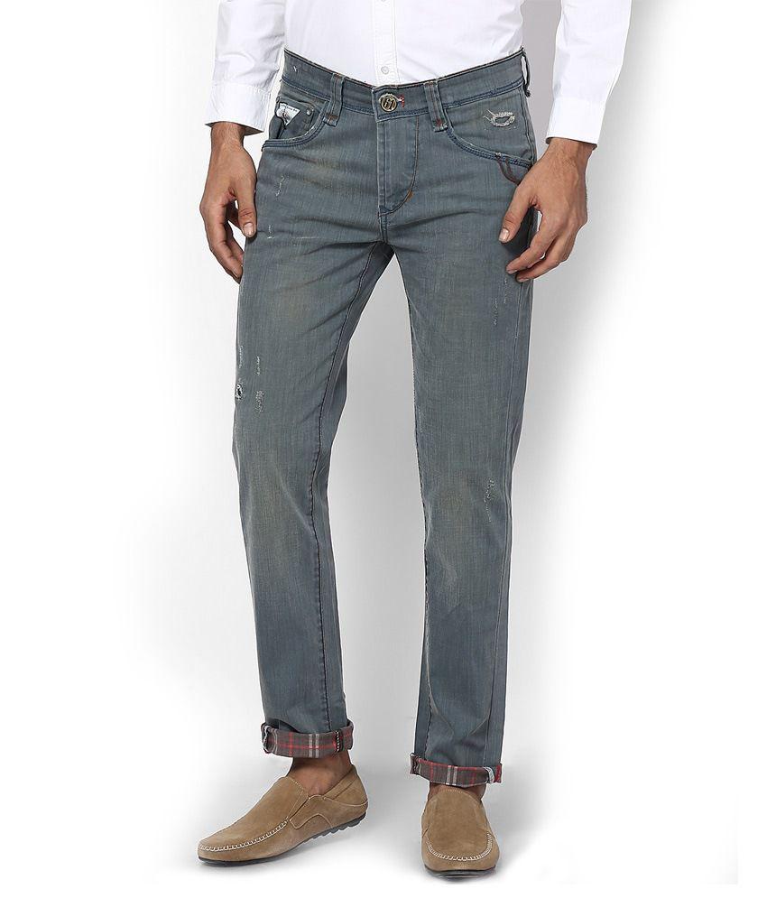 Code 61 Blue Cotton Slim Jeans