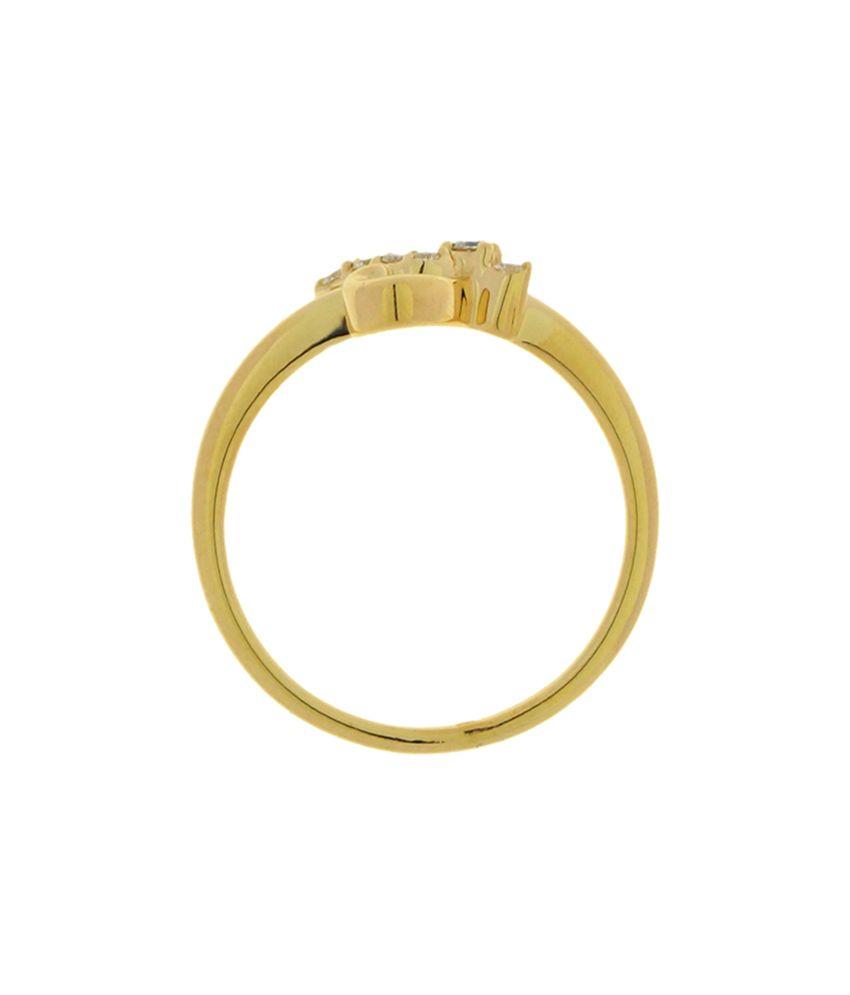 Gurukrupa Exports Cluster Cubic Zirconia 18kt Gold Ring