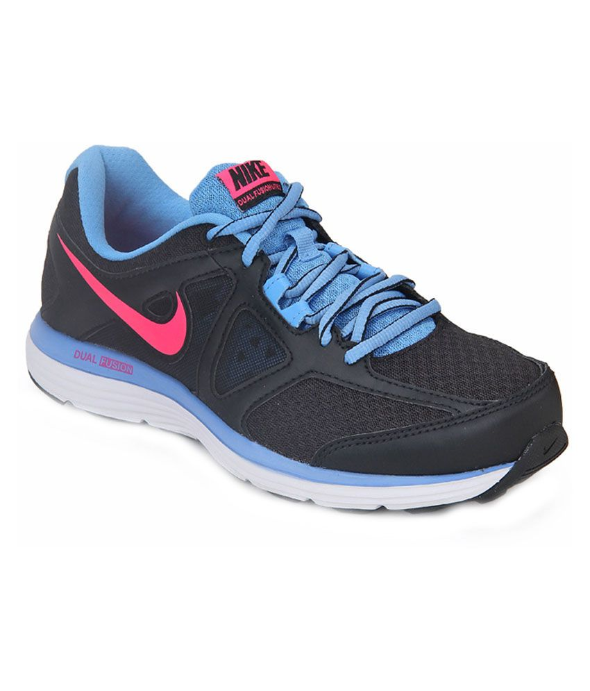nike dual fusion lite 2 msl black running shoes price in india buy nike dual fusion lite 2 msl. Black Bedroom Furniture Sets. Home Design Ideas
