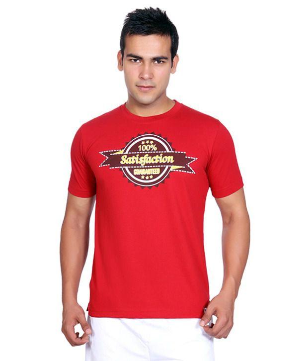 Duke Red Cotton Blend  T-Shirt