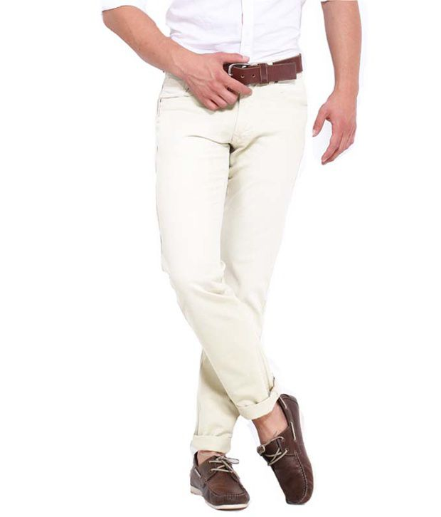 Goodkarma Ghostwhite Regular Casuals Pack Of One Chinos