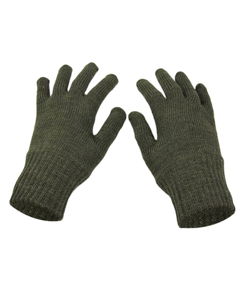 Ice Bear Woolen Knitted Gloves - 5 Pair combo pack