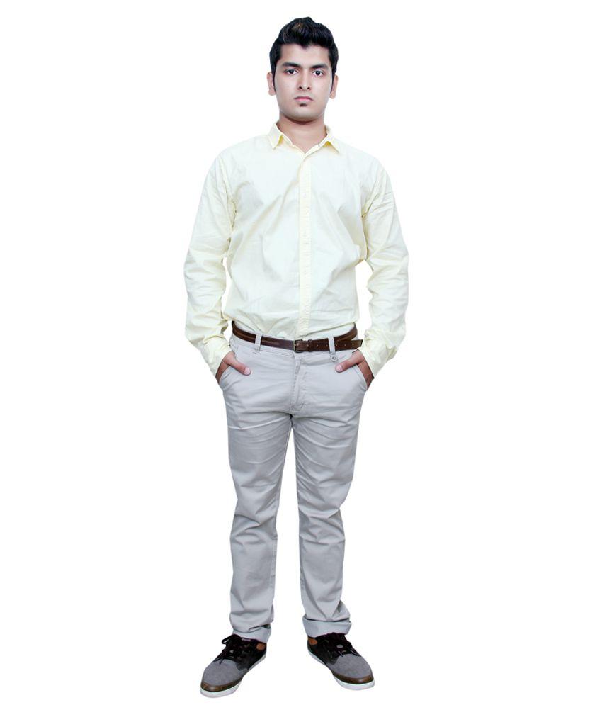 Makeover Ghostwhite Regular Semi Formal Trouser