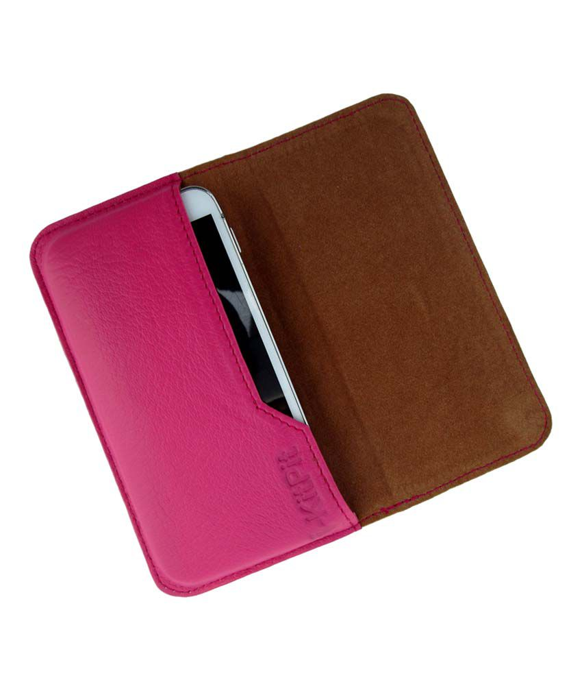 Ikitpit Genuine Leather Flip Pouch Case Cover For Blackberry Curve 9220