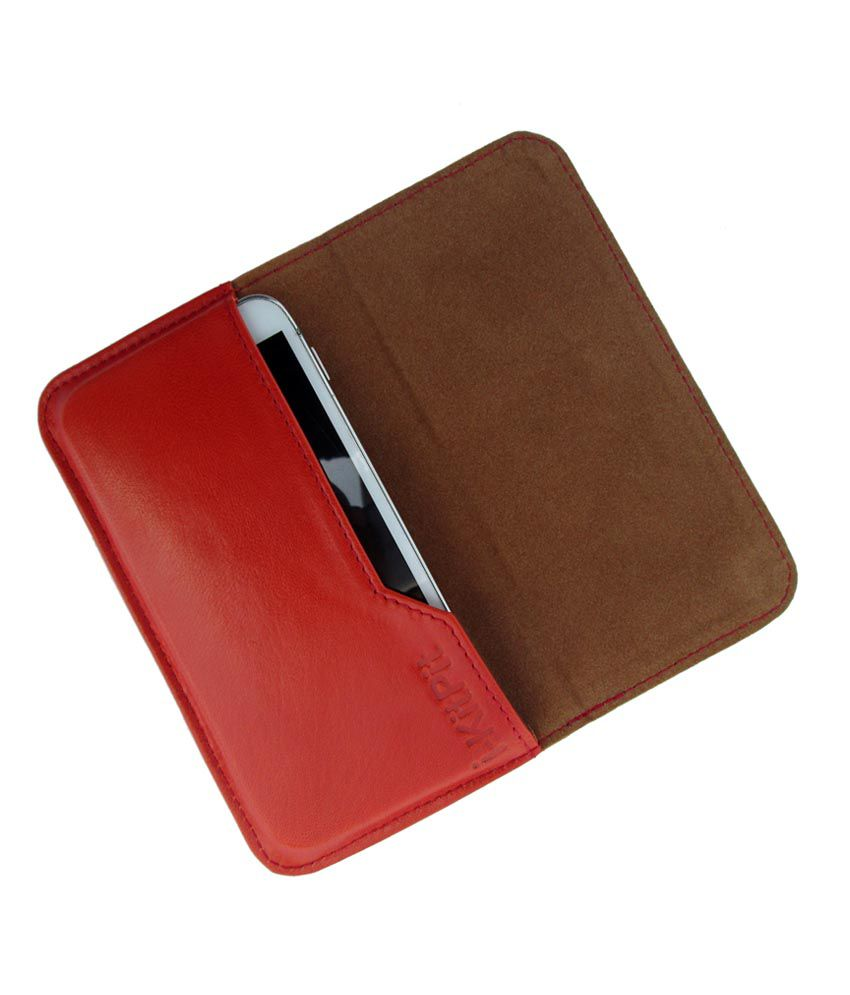 Ikitpit Genuine Leather Flip Pouch Case Cover For Motorola Droid Maxx