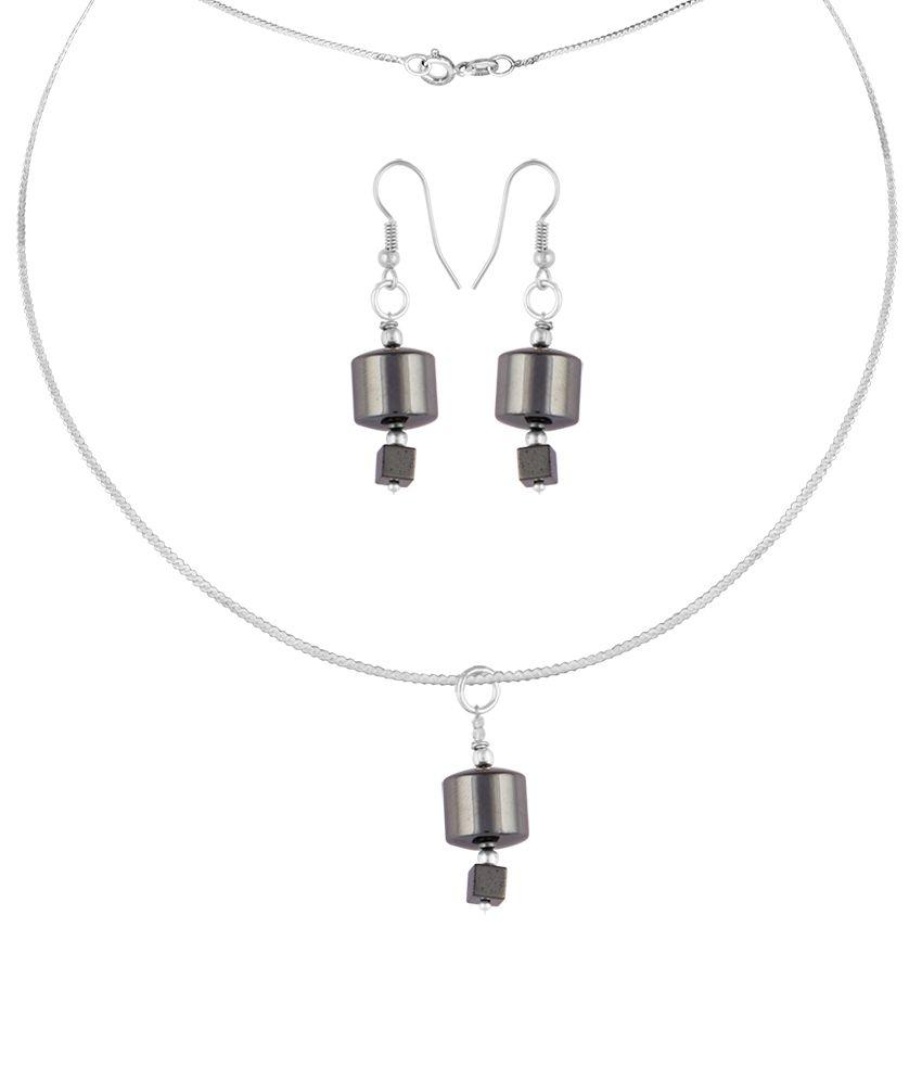 Pearlz Ocean Blaze Babe 2.5 Inch Hematite Beads Pendant Sets