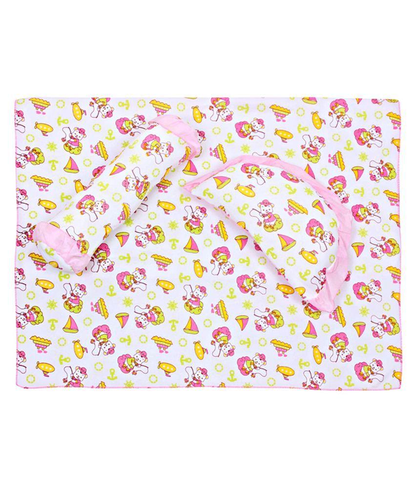 Cute Pillow Sets : Fab N Funky Bedsheet And Pillow Set Cute Pink Print - Buy Fab N Funky Bedsheet And Pillow Set ...