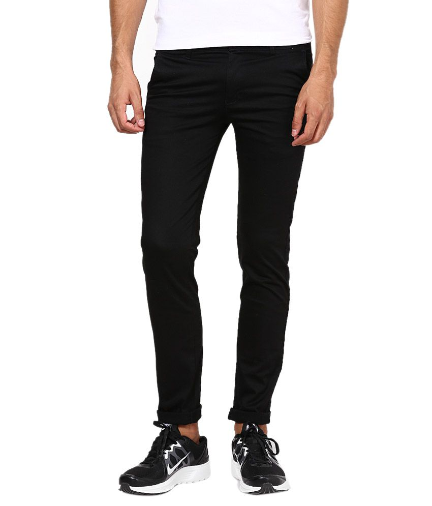Inspire Clothing Inspiration Black Slim Casual Chinos