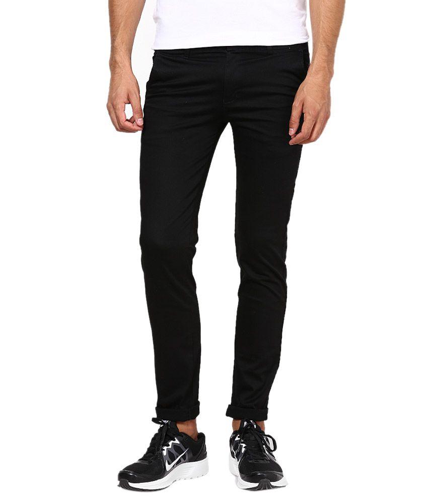 Inspire Clothing Inspiration Black Slim Casual Chinos