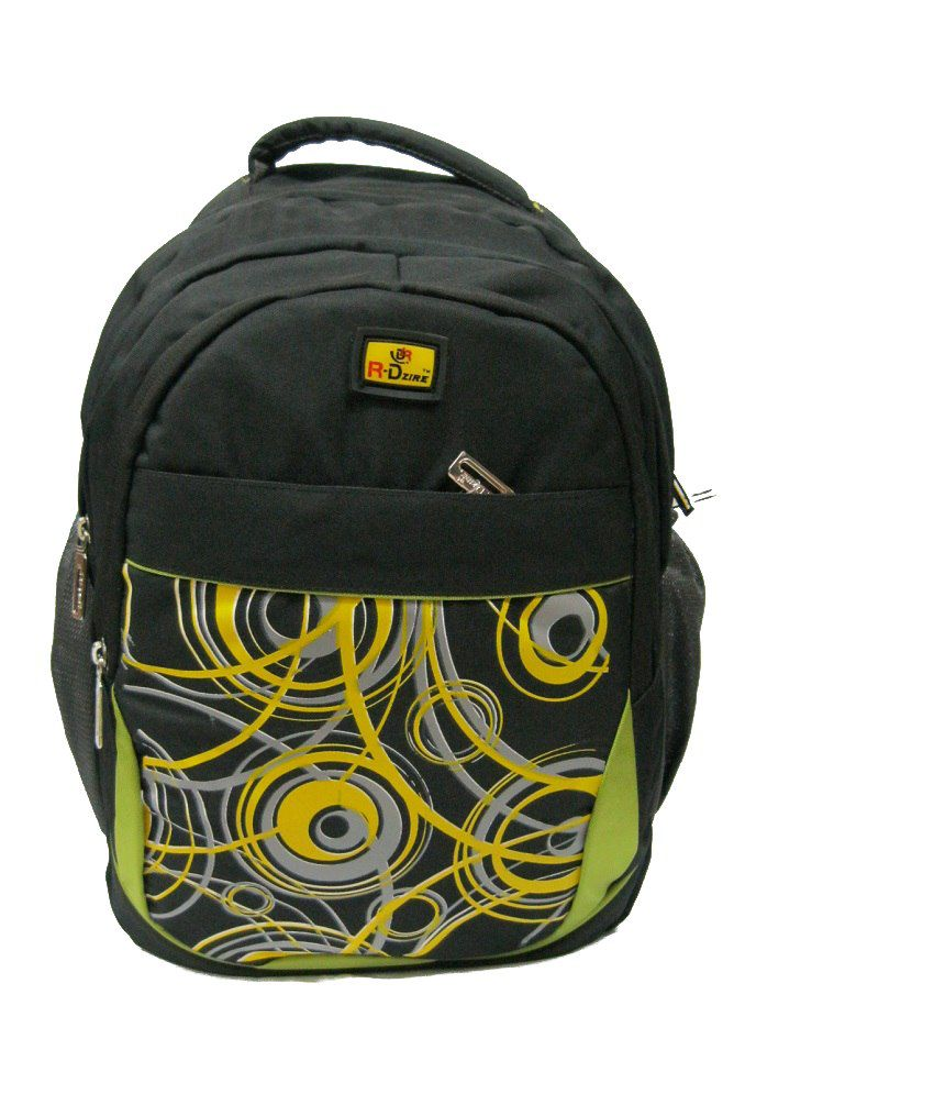 R-dzire Black P.u. Water Resistant Backpack