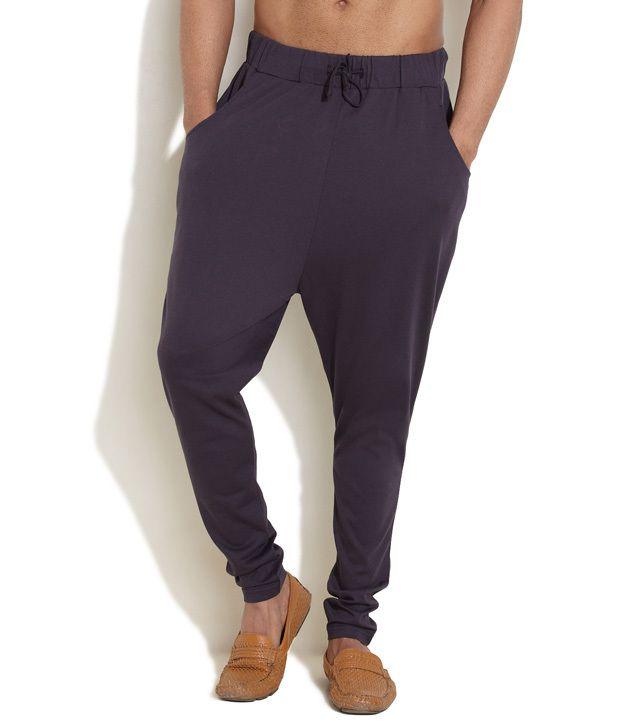 Rattrap Dark Blue Lazy Days Drop-Crotch Pants
