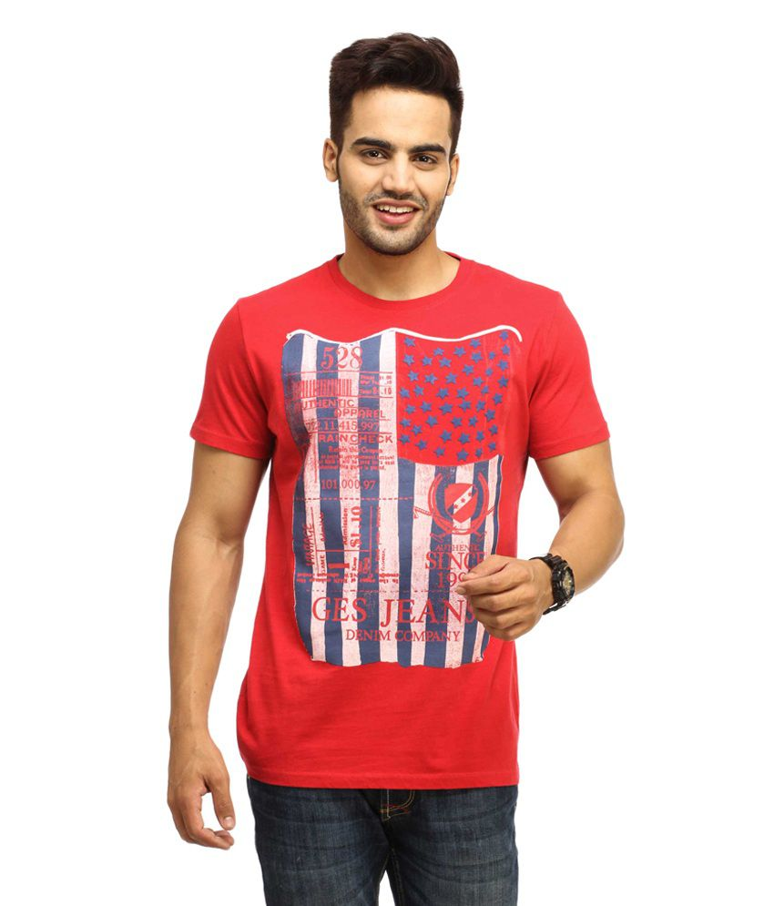Gesture Red Cotton T-shirt