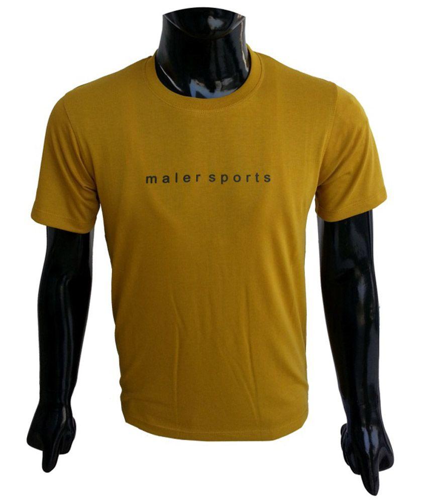 Msports Mustard Round Neck T Shirt