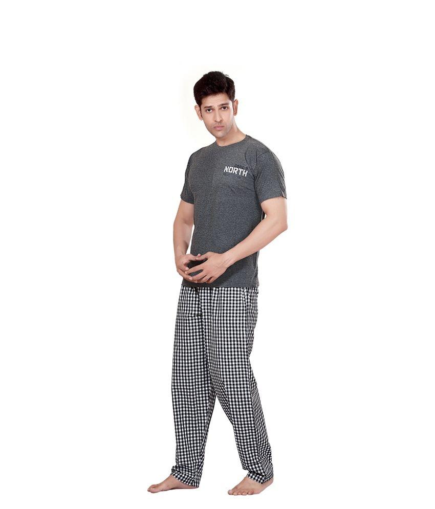 74f5be0670 Maxis Gray Cotton Night Set - Buy Maxis Gray Cotton Night Set Online at Low  Price in India - Snapdeal