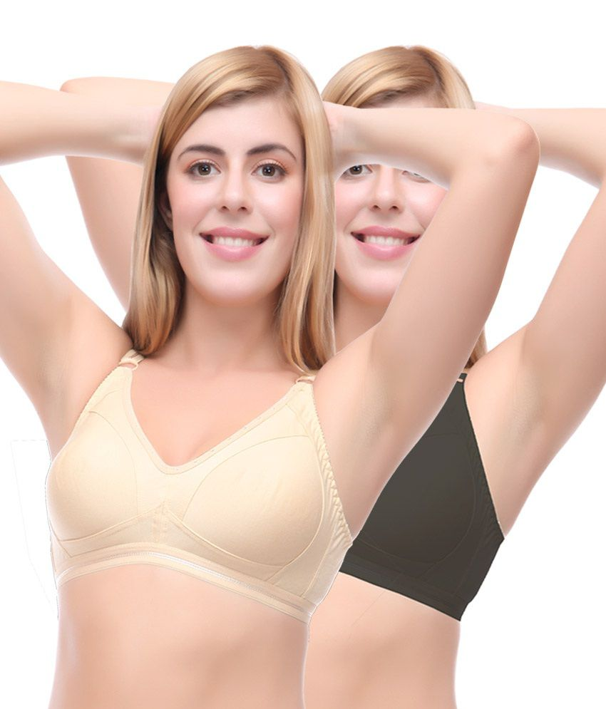 3632cc7327 Buy Selfcare Multi Color Poly Cotton T-Shirt Bra Bra Pack of 2 Online at Best  Prices in India - Snapdeal
