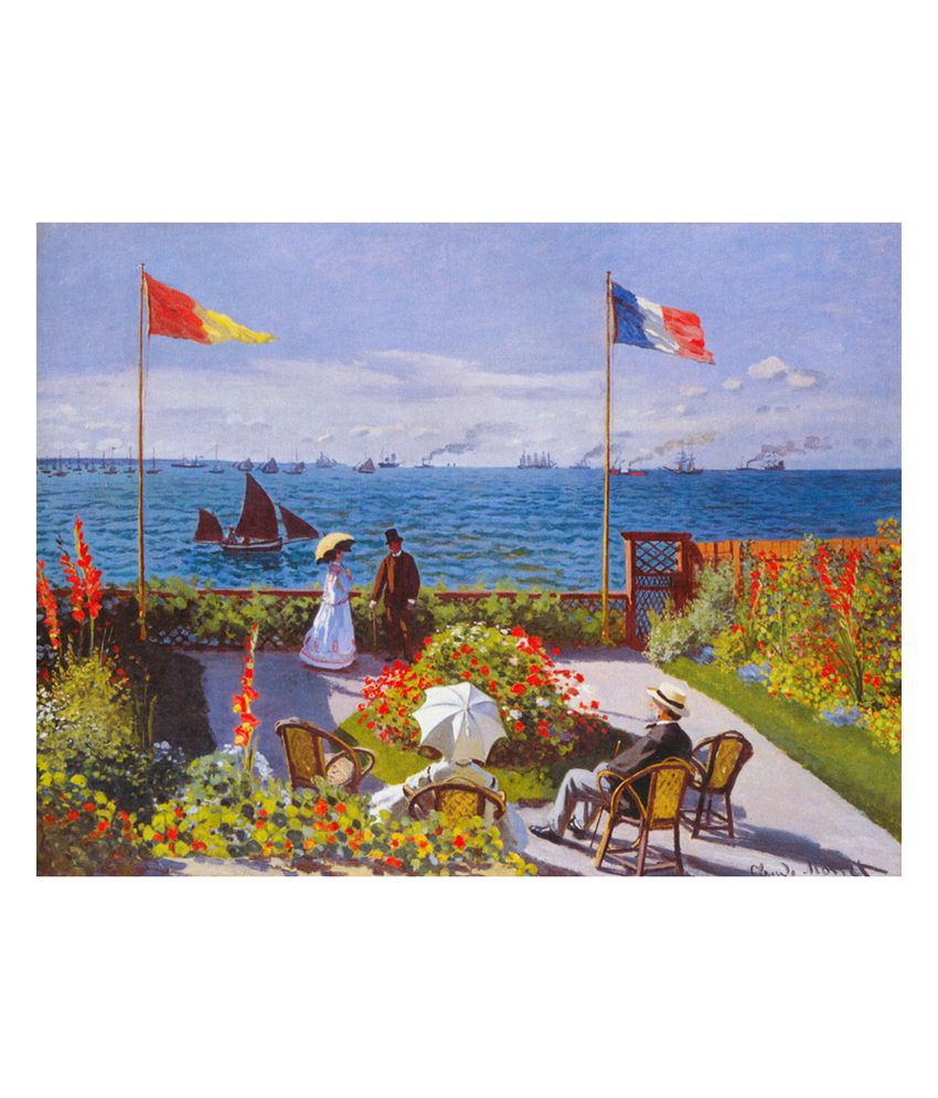 The Museum Outlet Matte Fabric Claude Monet Garden At