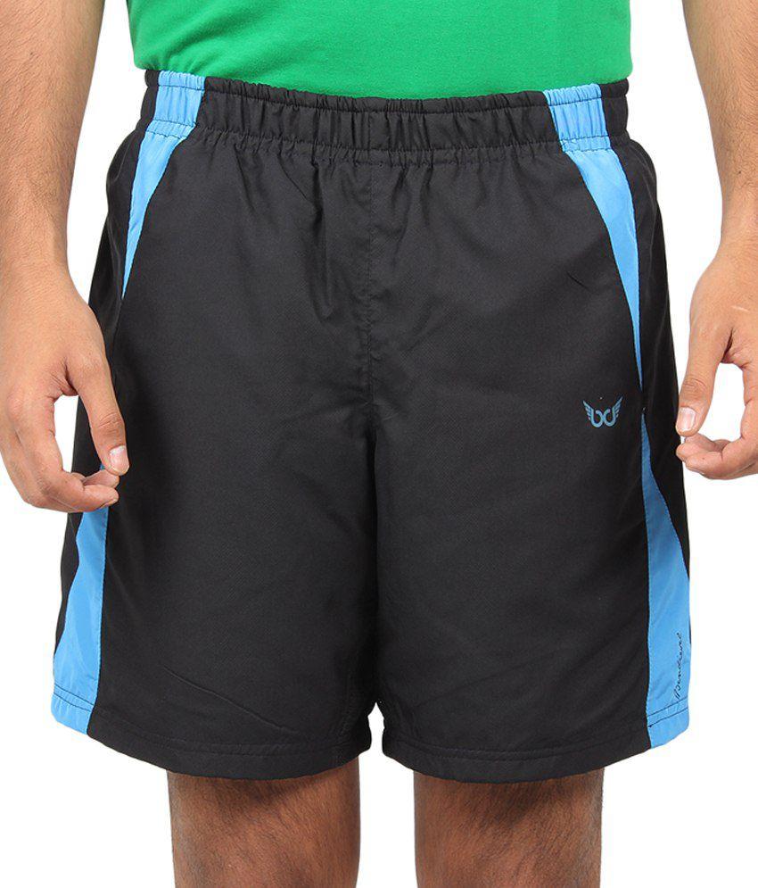 Bendiesel Black Polyester Solids Shorts