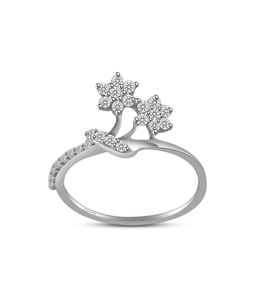 Ciemme 925 Sterling Silver Blossom Flower 0.58 Ct Fashion Cz Ring