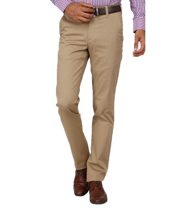 Jadeblue Beige Formal Slim Fit Shirt