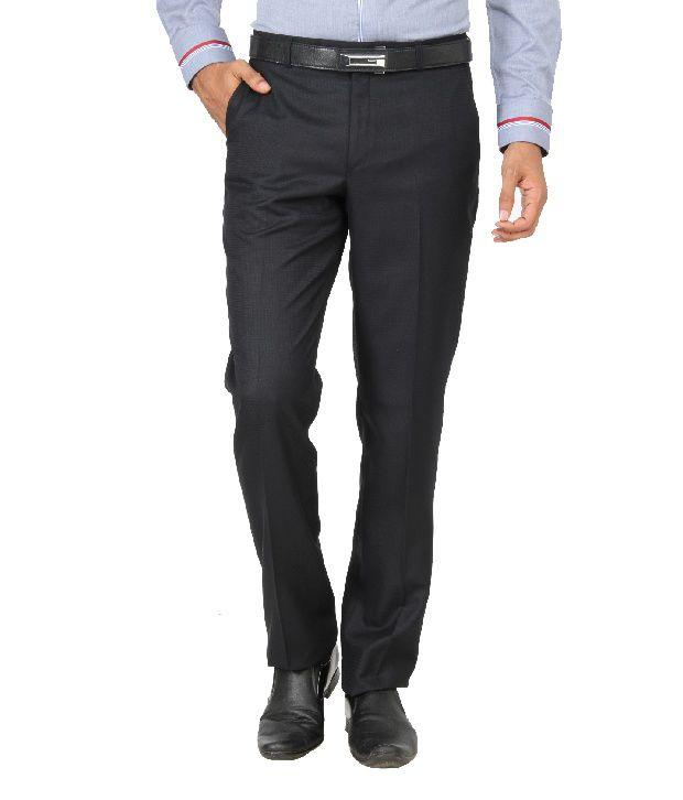 Jadeblue Black Formal Slim Fit Shirt